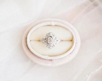 Ring Box in Champagne Velvet for Wedding Sets or Wedding Service