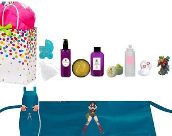 NEW MOM Wonder Mommy Woman Survival Kit! Super Girl Kit Gift Set Basket! Bath, Body, Postpartum Items! Stretch Mark,  Nipple Care Plus More