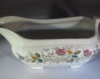 Ironstone Wedgewood Floral gravy boat
