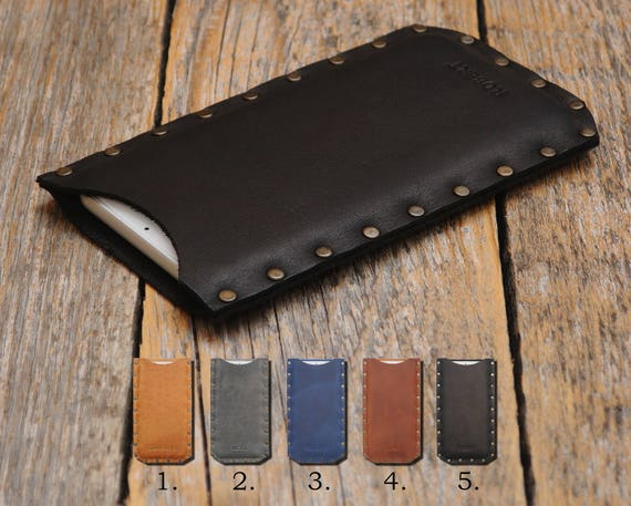 Leather for Microsoft Lumia 650 950 640 550 540 430 XL Dual PERSONALIZED Cover Pouch Case Sleeve Rough Riveted Custom Sizes Available