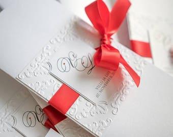 Handmade wedding invitation, handmade card, invitation, giftcard