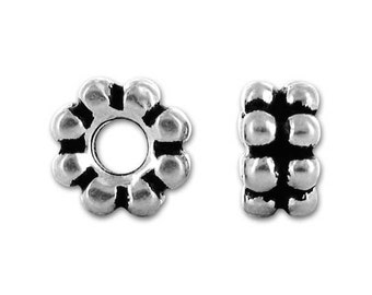 Sterling Silver Large Hole Beads for European Style Charm Bracelets, Large Hole Spacer Beads, Large Hole Bead Charms, European Charms