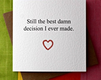 Birthday card boyfriend etsy best damn decision love card anniversary card wedding card valentine card birthday boyfriend girlfriend husband wife honest irish m4hsunfo