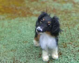 Custom Pet Portrait / OOAK Handmade Needle Felted Dog / Made Just for You