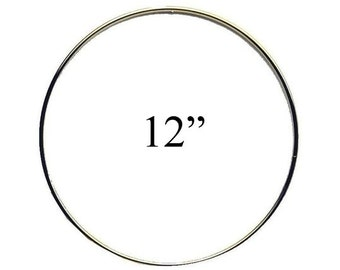 "12"" Macrame Metal Ring Hoop Brass, Dream Catcher, Macrame Hoop- Brass, Gold Toned"