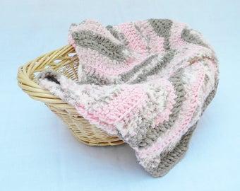 Baby Blanket, Crochet Baby Blanket, Soft Baby Blanket, Chevron Baby Blanket, Baby Afghan
