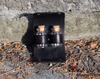 Potion / pills handmade leather holster - Perfect for LARP and Cosplay