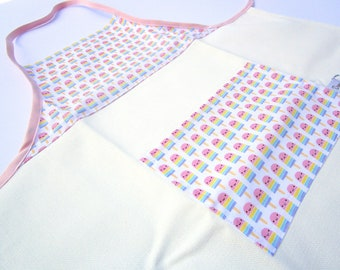 Girl apron / apron / kitchen kids / Mini boss / 3 to 5 years