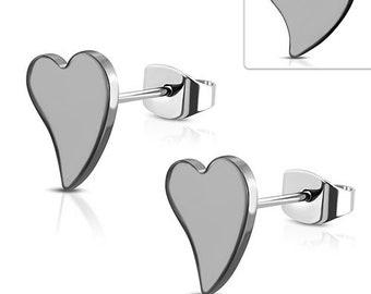 Earrings Heart Stainless Steel 316L
