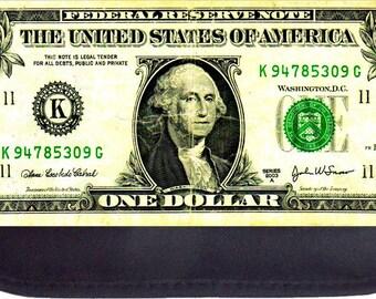 Dollar Bill Print Design - Black Pencil Bag - Pencil Case
