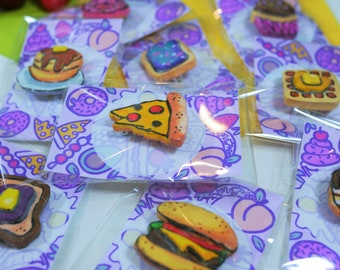 Junk Food Pin Brooches // Hand sculpted