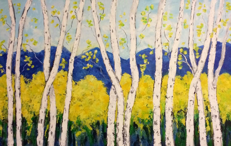 Funky Aspen Trees Wall Art Motif - Art & Wall Decor - hecatalog.info