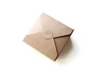 Small kraft box / square kraft/ white / cream box / jewelry box / small treat box / wedding favors box / gift box / square box Set of 12