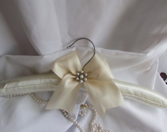 SALE Bridal Padded Hanger Rhinestone Accent