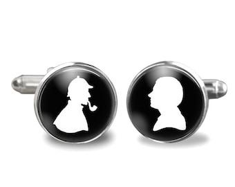 Sherlock Holmes and Watson Cufflinks PM-027