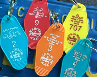 Retro Motel Key Fobs