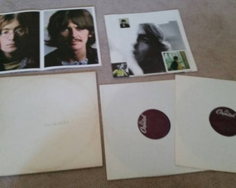 The Beatles White Album lp with poster and 4 colored photos EX
