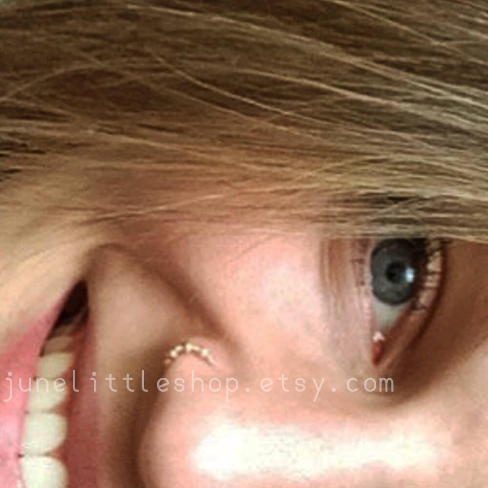 Gold Nasenring indischer Nasenring Draht gewickelt