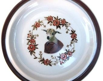 "SALE - Billy Goat Portrait Plate  8.15"""