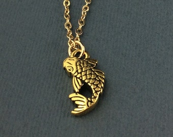 Good Luck Charm, Koi Fish Necklace, Good Luck Pendant, Koi Gift, Koi Fish Charm, Koi Pendant, Koi Charm, Koi Jewelry, Koi Fish Jewelery