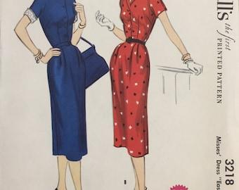 McCall's 1955 uncut/unopened Dress Pattern 3218