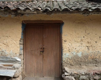 Sacred Valley Entries 7, Fine Art Photography, Landscape, Inca, Ollantaytambo, Small Town, Doorway, Wall Art, Home Decor