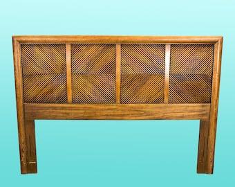 "Mid-Century Walnut Headboard - Queen Size Headboard - 62"" Headboard-Reeded Headboard"