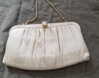 10x6 vintage gold purse clutch 50s 60s