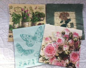 4 x Assorted Paper Napkins