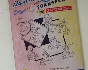 Vintage Aunt Martha's Transfers, 3370 Kitchen Cupid