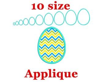 Easter egg applique machine embroidery design. Easter Egg Frame. Easter applique design.