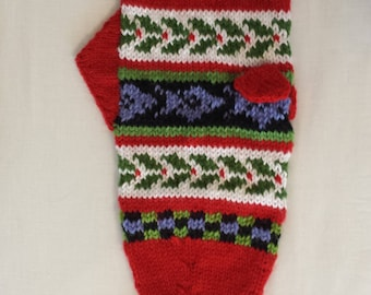Hand-knit Christmas Stocking for Fish Loving Anglers