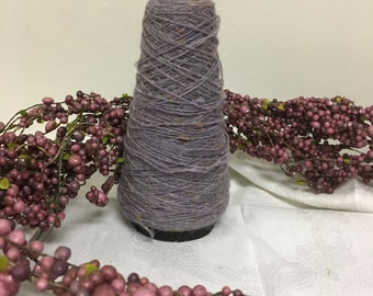 Vintage Large Spool of Purple Thread with Shades of White, Purple and Pink Cottage Chic Shabby Accent Decor