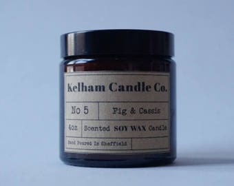 Fig + Cassis Amber Soy Wax Jar Candle