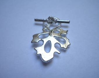 Toggle clasp in silver foil 30 x 20