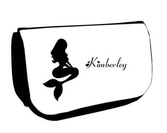 Black up /crayons Mermaid bag personalized with name