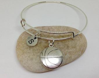 Basketball Initial Personalized Necklace Bangle Bracelet