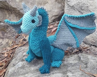 Crochet Dragon Plush / Amigurumi/ Fantasy / Game of Thrones / Dungeons and Dragons