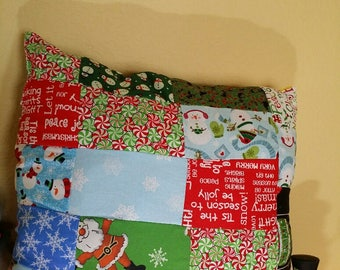 Christmas Patchwork Too Pillow
