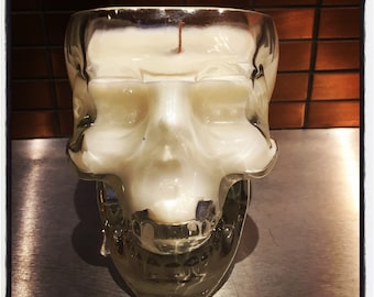 Crystal Head vodka bottle candle