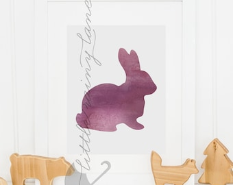 Bunny - Easter decor - Easter bunny - Nursery Decor- Bunny Silhouette