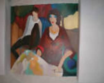 Itzchak Tarkay  Rendezvous  Original Signed by the Artist