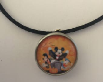 Mickey Halloweeen Necklace