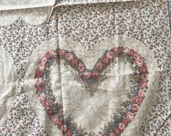 "Joan Kessler Concord Vintage Heart fabric, 1-3/4"" x 44"""