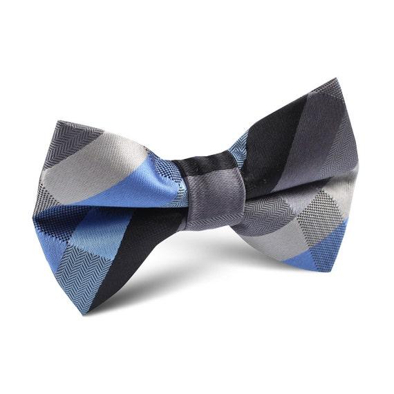 Boy's Swirl Black & Burgundy Bow Tie  |Bow Ties For Boys