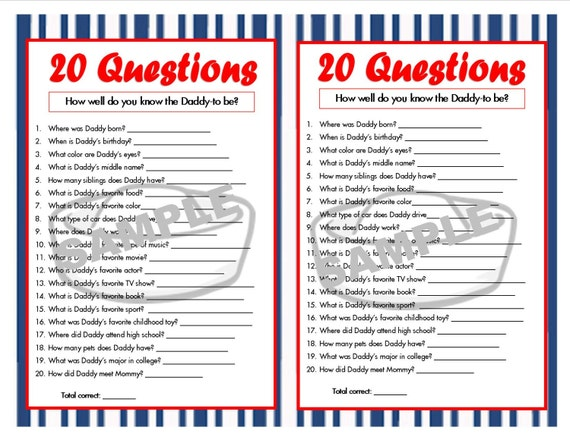 20 questions nautical printable party game nautical baby. Black Bedroom Furniture Sets. Home Design Ideas