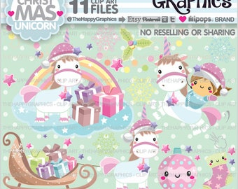 Christmas Clipart, 80%OFF, Christmas Graphics, Unicorn Clipart, Unicorn Graphics, Commercial Use, Unicorn Party, Magical, Unicorn Clip Art
