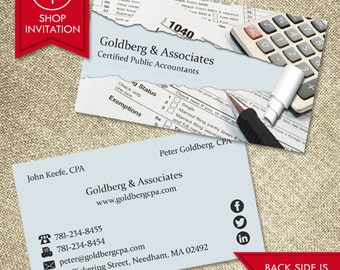 Accountant Business Card (Free Shipping)