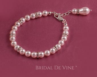 Lovely Wedding  Bracelet made with Pearls Made with CRYSTALLIZED™ - Swarovski Elements