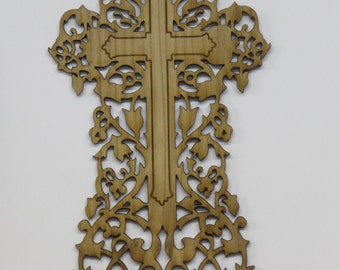 Floral vine cross # 8